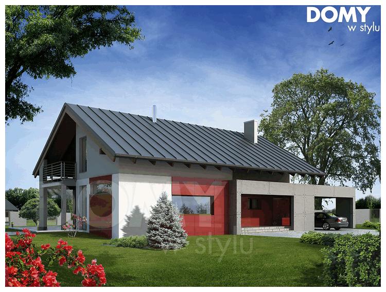projekty domów w stylu dworkowym